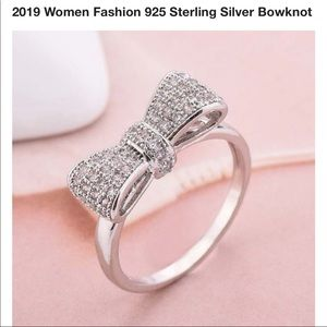 Sterling silver bowknot ring